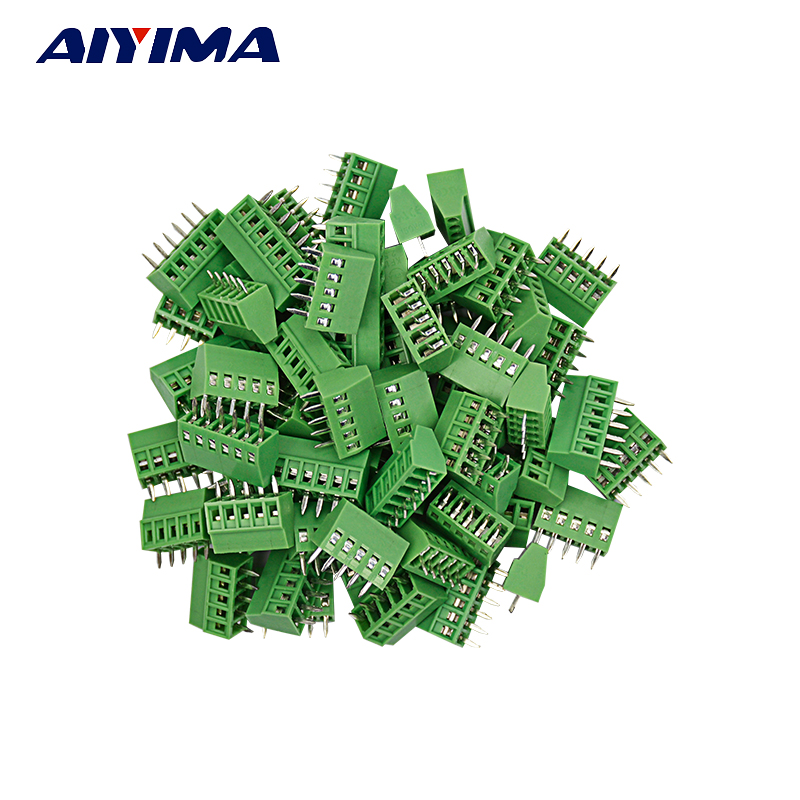 10pcs PCB Universal Screw Terminal Blocks Connector 2.54MM  Pitch PCB Mount Screws 2P-10P 1805136[pluggable terminal blocks 9 pos 5 08mm pitch plug 24 mr li