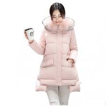 Парки пуховик зимний верхняя теплая материнства беременных куртка женская пальто зима