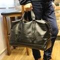 Lazer de Alta Qualidade Pequeno Negócio mochila de viagem de couro Dos Homens pu saco Cossbody Saco Grande bolsa de couro saco de viagem masculina