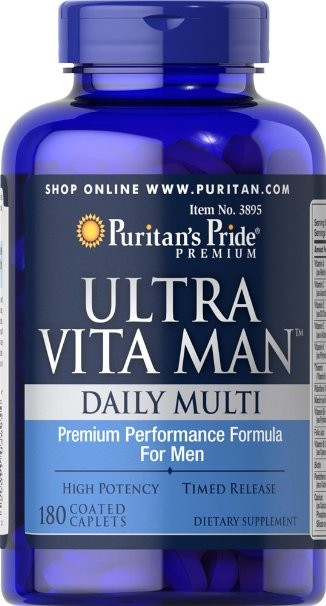 ФОТО USA Ultra Vita Man Time Release-180 Caplets free shpping