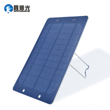 Xinpuguang 6W 6V Solar Panel Mono Cell Bracket Portable Charger for USB 5V 1A Output Mobile
