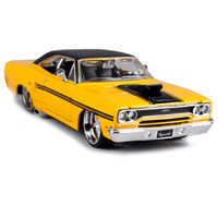 Maisto 1:24 1970 plymouth gtx yellow car diecast 210*75*55mm vintage toy car model for collecting old motorcar diecast 31016