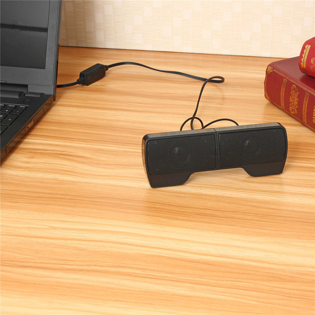 Pair Mini Portable for Laptop Notebook Mp3 PC Computer with Clip Clip-on USB Stereo Speakers line Controller Soundbar