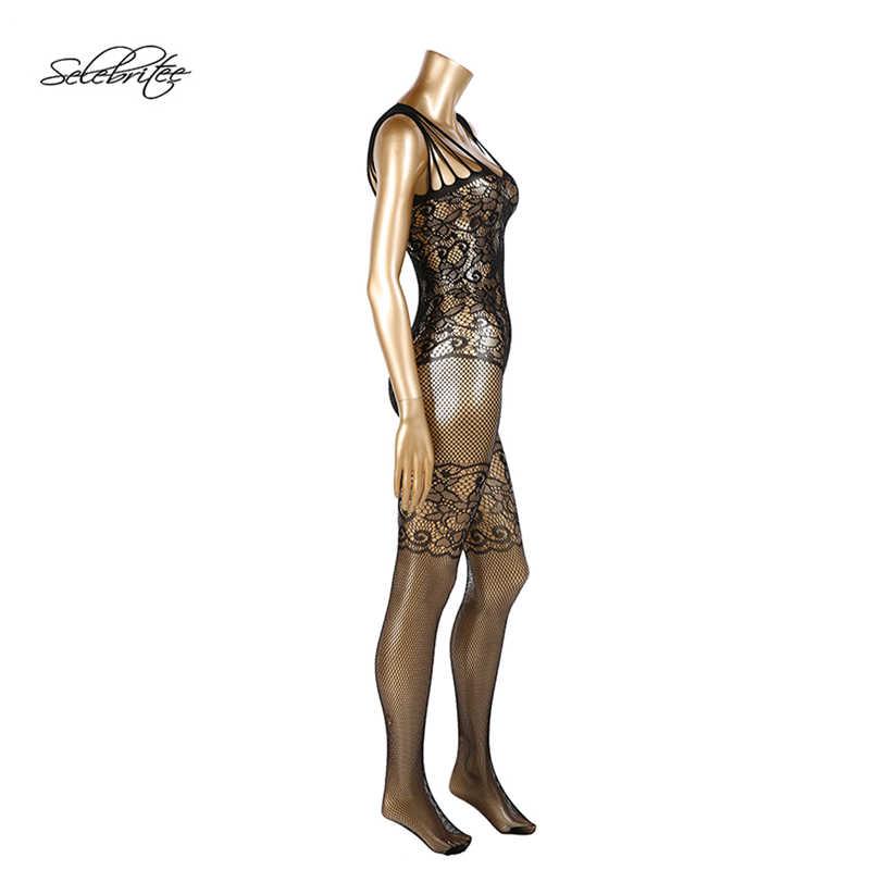 Selebritee Для женщин сексуальное нижнее белье Кружево женское белье с ремешок с вырезами Боди Ночная рубашка экзотический прозрачный Нижнее Бельё для девочек