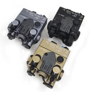 Image 1 - An/PEQ 15A DBAL A2 led 백색 무기 빛 + 원격 스위치를 가진 빨간 레이저 렌즈 전술 사냥 소총 airsoft 건전지 상자