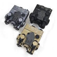 Luz de led com arma branca + lentes laser vermelhas, interruptor remoto, tático, para caça, rifle, airsoft, bateria an/PEQ 15A DBAL A2 caixa de caixa
