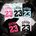 Men/women Jordan 23 Floral Print Hip Hop  T Shirt Men  Casual T-shirts Tops Couples Cotton  Tshirts Clothes