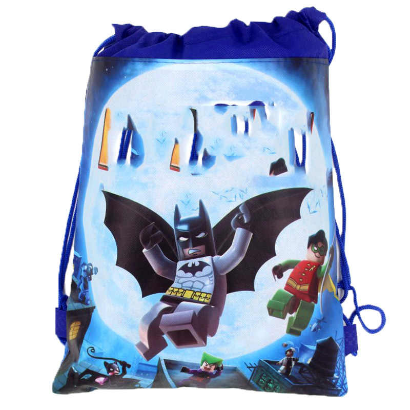 Baby Shower Party Supplies Kids Favors Backpack Decorate Birthday Batman  Cartoon Theme Events Blue Drawstring Gifts 8bbabe11590c0