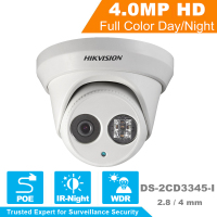Hikvision CCTV Camera 1080P Full HD 4MP Multi Language Security IP Camera PoE Camera DS 2CD3345