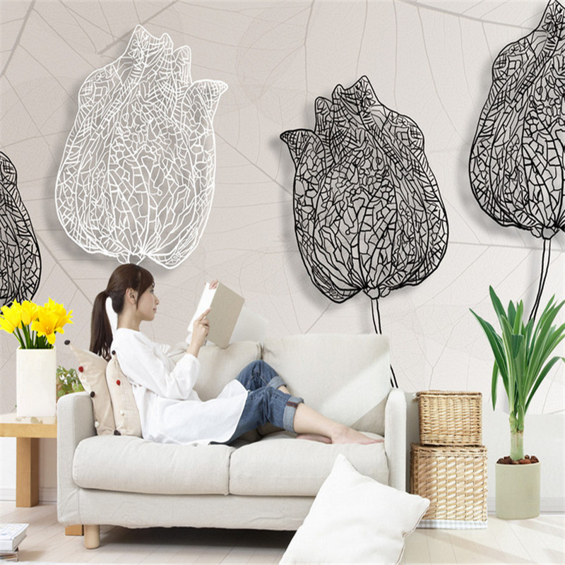 customizable modern photo mural wallpaper 3d abstract flower bedroom study sofa background non-woven 3d wallpaper home decor home decor non woven fabric 3d wallpapers modern wallpaper good lightfastness durable bedroom decor white grey pink 53x1000cm