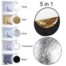 60 см 80 см круглый диск 5 в 1 портативный Круглый стальной каркас фотостудия светильник Mulit складной отражатель+ сумка для переноски