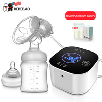 2019 USA Brand Baby Products Intelligent LCD Electric Breast Pumps Breastfeeding Painless Electric Breast Pump with Milk Bottle