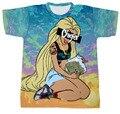 2015 New men/women Princess Chiefer Print 3d t shirt Unisex Tees Harajuku Crewneck t-shirt plus size S-XXL Drop Shipping