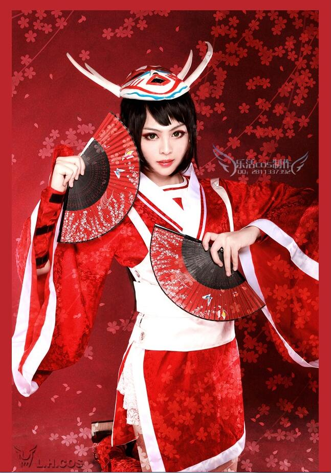 Game LOL Blood Moon Akali Cosplay Costume Halloween Uniform Custome Made