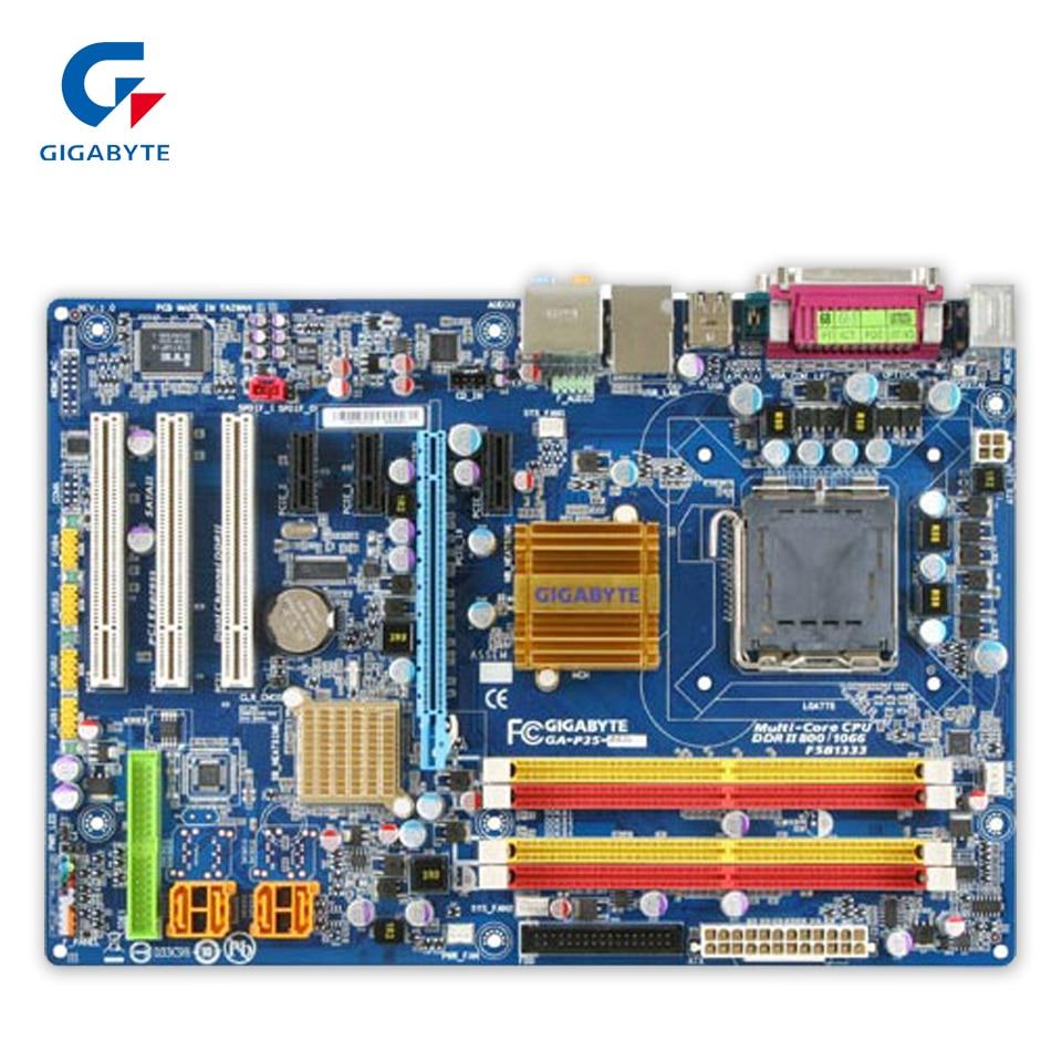 Original Gigabyte GA-P35-DS3L Desktop Motherboard P35-DS3L P35 LGA 775 DDR2 8G SATA2 ATX 100% Fully Test original gigabyte ga 945gcm s2c desktop motherboard 945gcm s2c 945gc lga 775 ddr2 4g sata2 micro atx 100% fully test