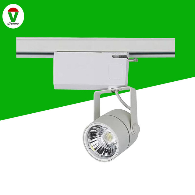 wholesale dealer fd104 08139 DHL FEDEX Free shipping AC85 265V black or white Triac dimmable 10w mini  LED track light 110LM/W,3 years warranty-in Track Lighting from Lights & ...