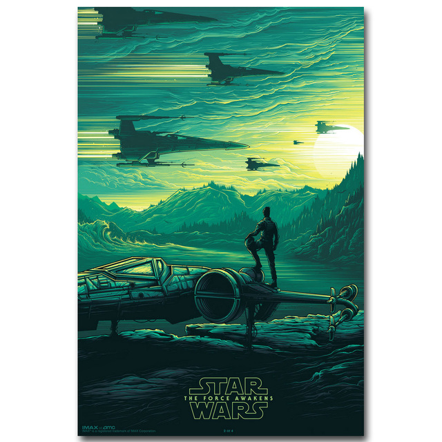 Star Wars 7 The Force Awakens Art Silk Fabric Poster Print 13×20 24×36 inch