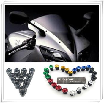 motorcycle Windshield Windscreen Fastener Spike Bolts kit Screw Nuts for YAMAHA 600 FZR HONDA CB919 CBR 600 FZ400 R FZX700 FAZE