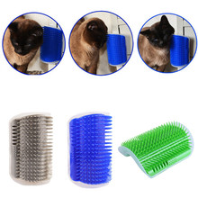 Pet Cat Self Grooming Brush Comb Corner Kitten Hair Trimming Massage With Catnip Scratcher Toy