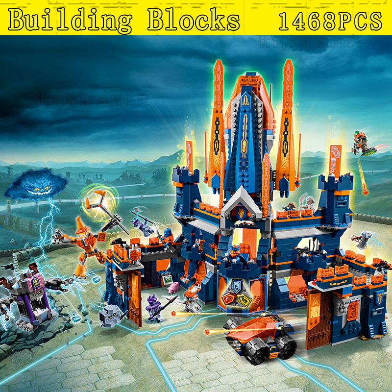 2018 Mailackers1295 Pcs Compatile With bela Nexo Knights 70357 The King Castle Bricks Building Blocks Toys For Children single sale medieval castle knights dragon knights the hobbits lord of the rings figures with armor building blocks brick toys