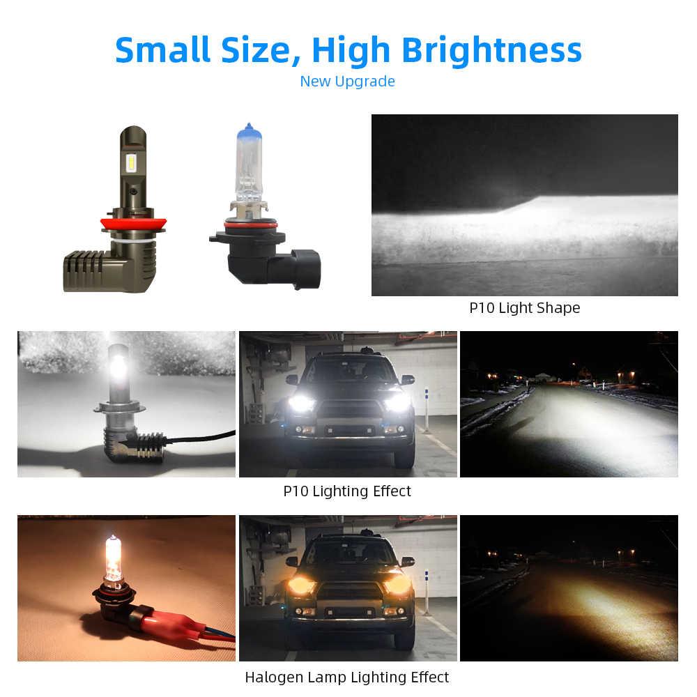 18000LM Inhanced Car LED Headlight H7 Led H4 H8 H9 H11 9005 HB3 9006 HB4 with CSP Chips 6000K 12V Lamp Car Head Bulb Car Styling