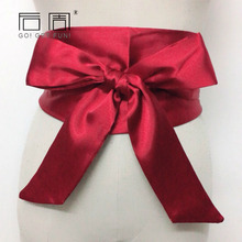 silk bow belt beyaz kemer red blue black brown women wide waist wedding dress belt sash cinturon boda ceintures pour femmes riem