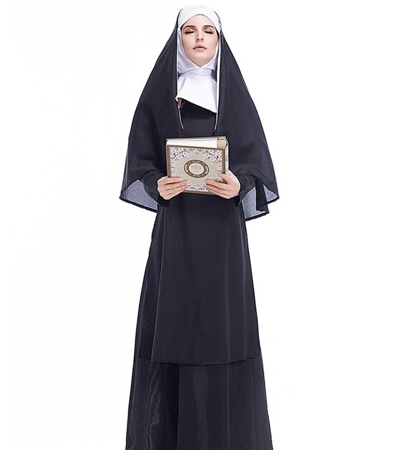 Religious Holy Sister Nun Catholic Church Fancy Dress Halloween Hen Party Mary