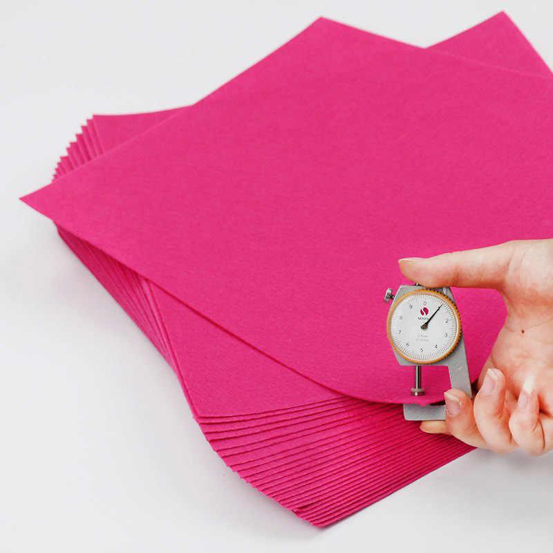 Розовый красный чистый цвет ткань 30X30 см простой Войлок пакет DIY пошивное ремесло квадраты нетканые Лоскутные ручной работы ткань
