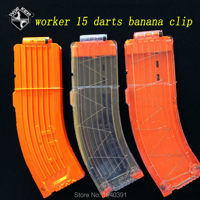 For Nerf banana Mags Ammo Clips Demolisher 15 Round Refill Dart Magazine  clips compatible with For