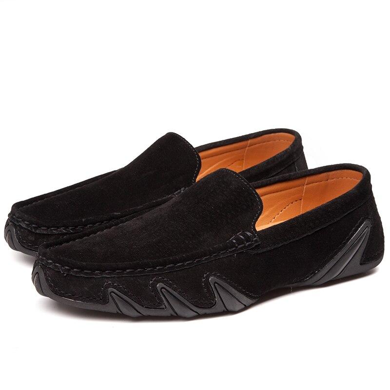 Men Italiano Moda Mens Vintage Couro black Jkpudun khaki Homem Barco Luxo Para Sapatos Camurça Do Condução brown Loafers Marca Men Men Gray Mocassins Men De Da Casuais Homens p5dZqqPw