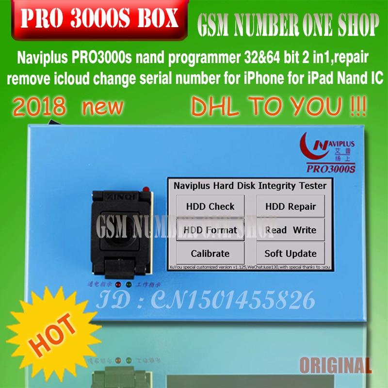 navi plus PRO3000S 32 64 bit nand programmer,repair HDD serial number SN,for iPhone 6p 6 iPad mini naviplus for ios 11 ios11 DE number