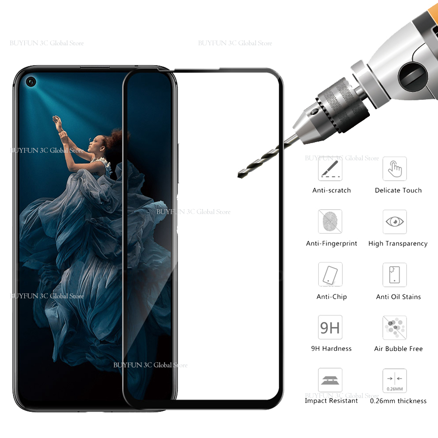 Image 5 - Protective Glass On Honor 20 Tempered Glass For Huawei Honor 20 Huaweii honor20 YAL L21 L41 Glas Screen Protector Film Cover 9H-in Phone Screen Protectors from Cellphones & Telecommunications