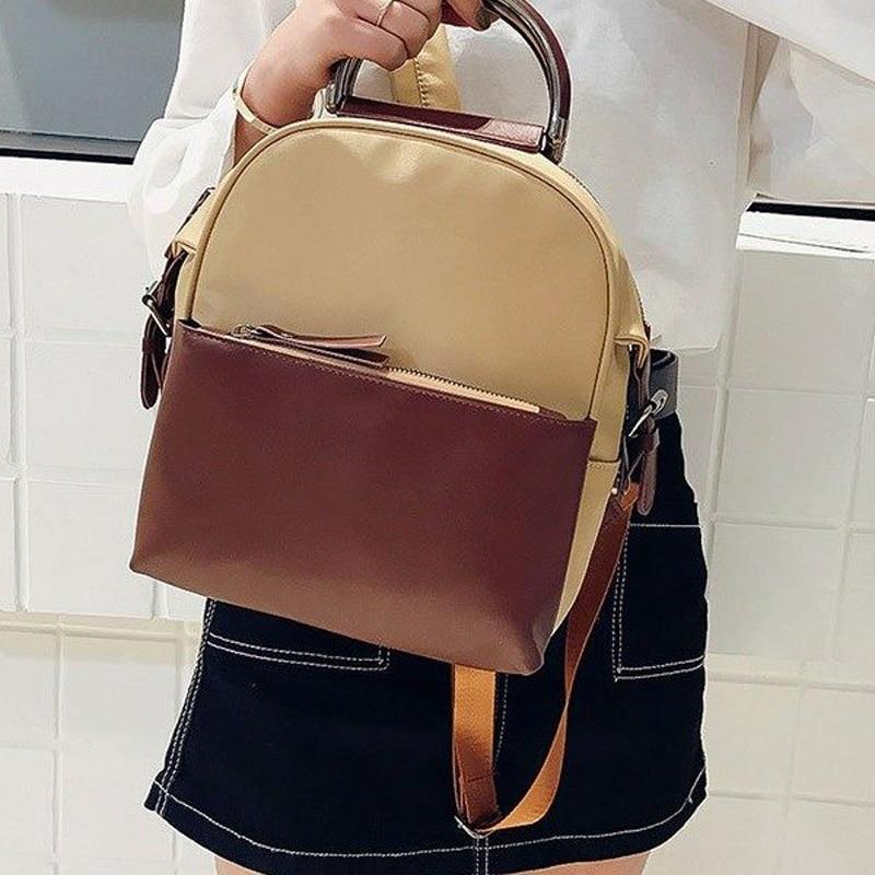 Teenagers School Bags Cute Fashion Style New Arrival Casual Female Bag  Girls PU Leather Modern Backpack Bolsa Feminina GC290-in Backpacks from  Luggage ... f1644f54c578a