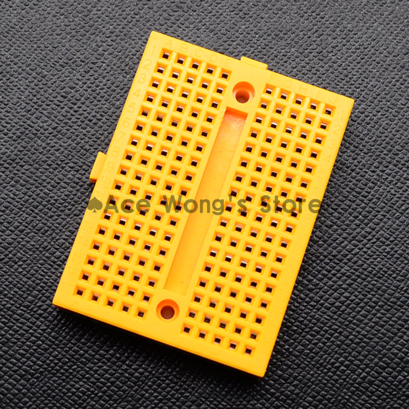 1pcs SYB-170 Mini Solderless Prototype Breadboard 170 Tie-points yellow