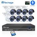 H.265 Sicherheit Kamera System 8CH 1080 P POE NVR Kit 2.0MP Audio Record IR-CUT CCTV IP Kamera P2P Outdoor Video überwachung Set