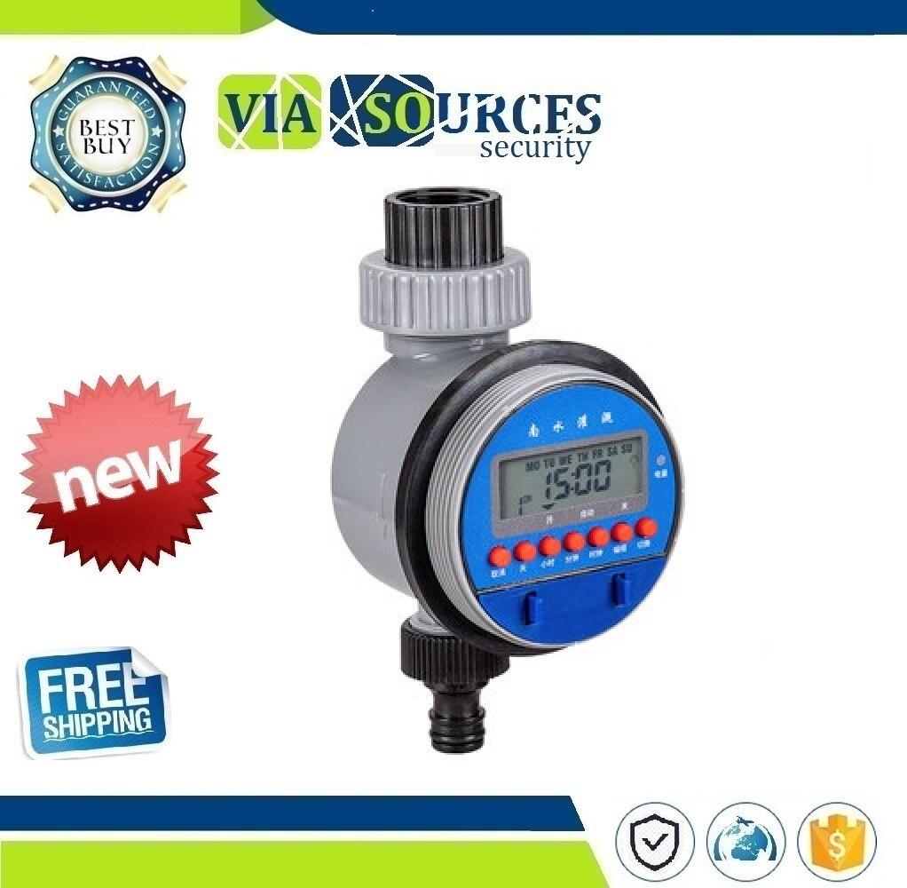 Elettronico automatico Display Home Timer Acqua di Irrigazione del Giardino di Irrigazione Timer del Sistema di Controllo di Valvola a SferaElettronico automatico Display Home Timer Acqua di Irrigazione del Giardino di Irrigazione Timer del Sistema di Controllo di Valvola a Sfera