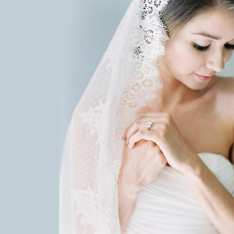 Elegance White Lace Bridal Veil Cathedral 300CM Long One Layer Wedding Veils Accessories Soft Dot Net