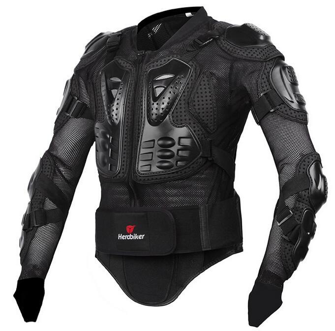 Livraison gratuite HEROBIKER Nouveau Hommes de motocross racing allié costume veste hommes Nouvelle Mode Moto Complet Body Armor Veste
