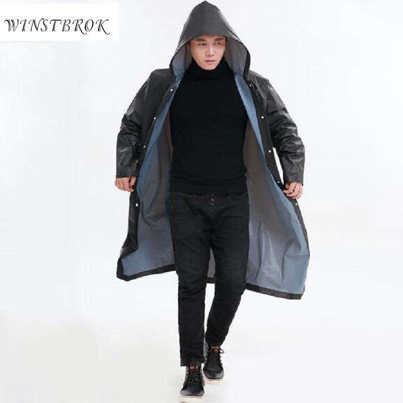 professional sale sneakers latest design WINSTBROK Waterproof Rain Coat Men Women Impermeable Raincoat ...