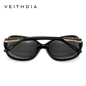 Image 3 - VEITHDIA Retro Sun glasses Polarized Luxury Ladies Brand Designer Women Sunglasses Eyewear oculos de sol feminino V3025