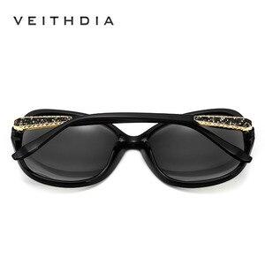Image 3 - VEITHDIA レトロサングラス偏光高級レディースブランドのデザイナーの女性サングラス眼鏡 oculos デゾル feminino V3025