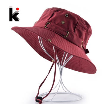 Beach Hats For Men Bob Woman Summer Bucket Gorras Outdoors Casual Hiking Fishing Caps Men's UV Protection Sun bone Casquette 1