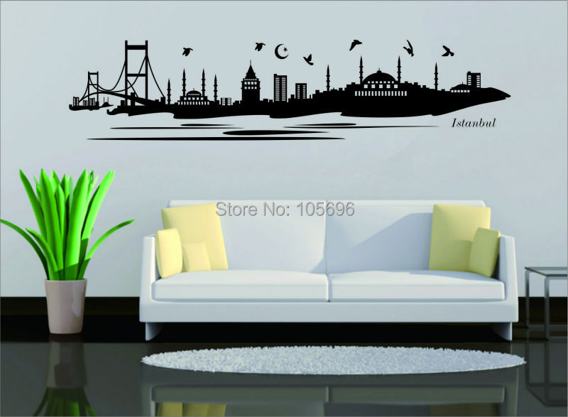 165*38cm istanbul sticker islamic wallpaper muslim sticker decal home decor art im52 custom made