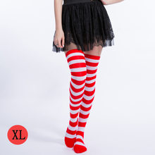 5cb30a012c8 Stockings Thigh High Stockings Plus Size Women Stockings Red And White Wide  Legs Knee-high Socks Japanese Cosplay Anime stocking