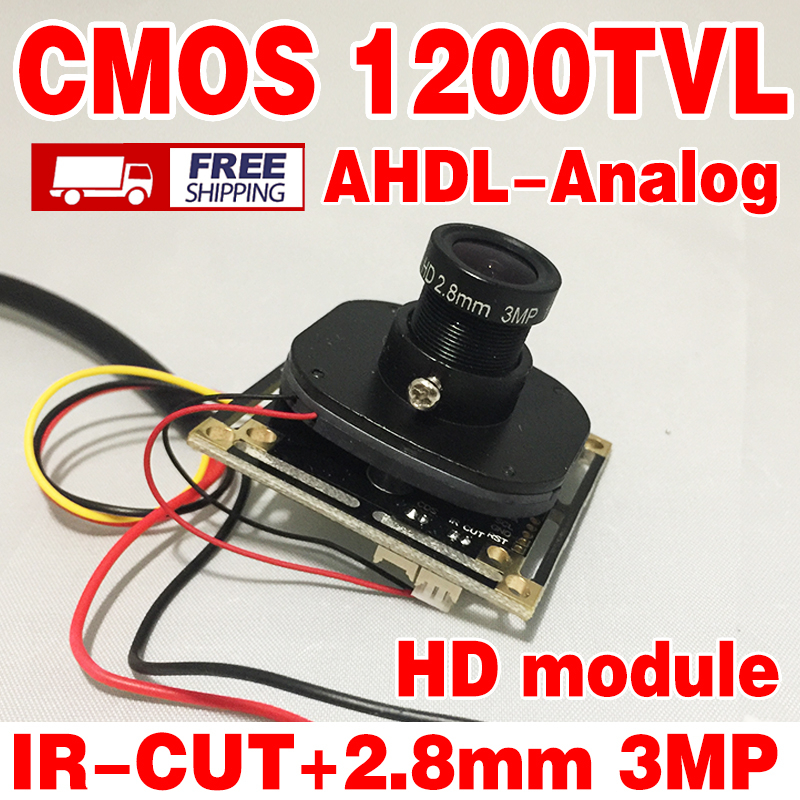 HD 1200TVL Color 1/4CMOS Analog 960P cvbs Finished Monitor chip module 2.8mm Wide 3.0mp lens camera Finished board chip module freeshipping rs232 to zigbee wireless module 1 6km cc2530 chip