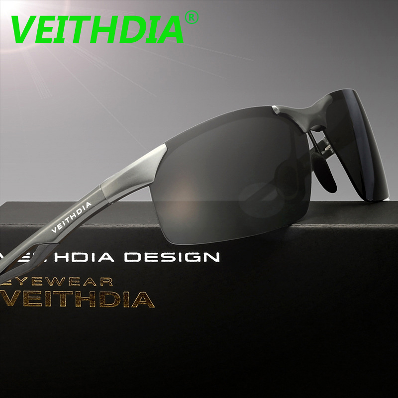 VEITHDIA 2017 Original Brand Polarized Sunglasses Driving Accessories Glasses Eyewear Aluminum Magnesium Alloy Frame 6591