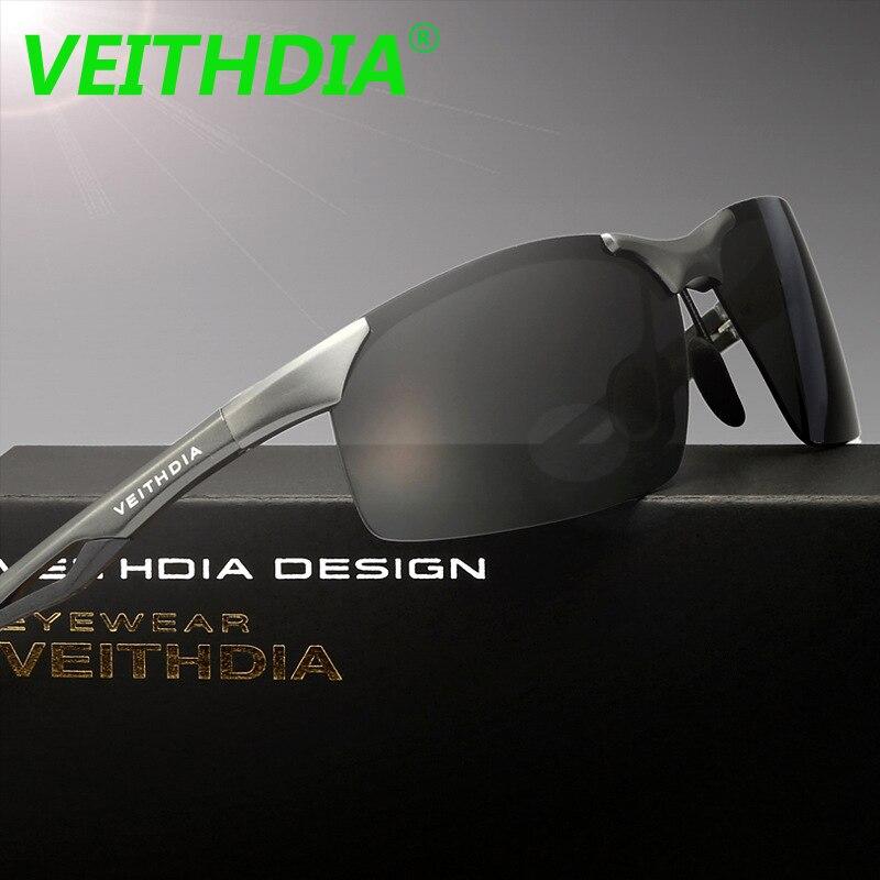 de5bbbe5cc VEITHDIA 2018 Original marca polarizadas de conducción accesorios gafas  marco de aluminio de aleación de magnesio 6591