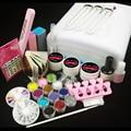 Burano New 36W UV Dryer Lamp Timer Block Sanding French Nail Art Tips Gel Tools DIY Kit 003# manicure set