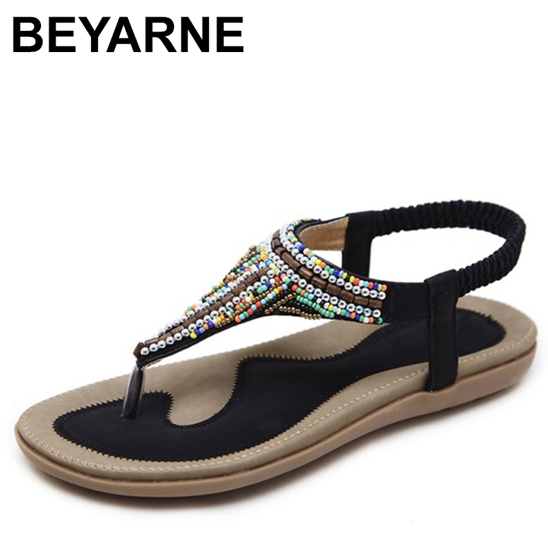 BEYARNE  summer shoes women bohemia beach flip flops soft flat sandals woman casual comfortable plus size wedge sandalsBEYARNE  summer shoes women bohemia beach flip flops soft flat sandals woman casual comfortable plus size wedge sandals