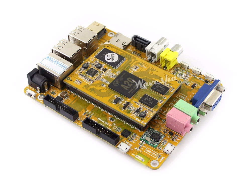 MarsBoard A20 Allwinner A20 Dual core ARM Cortex A7 CPU Dual core Mali-400 GPU with various interfaces VGA HDMI LCD CTP cubieboard3 cubietruck dual core a20 development board w 2gb ddr3 memory hdmi vga